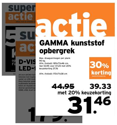 Gamma Kunststof Opbergrek.Gamma Case